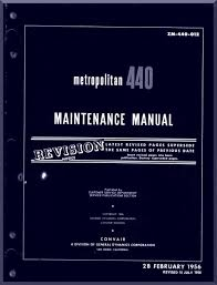 convair 440 aircraft maintenance manual 1956 zm 440 012