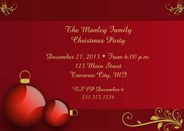 family christmas dinner invitation wording and template with nice