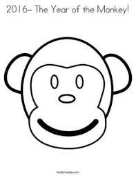 cute monkey clip art black white monkey coloring pages monkey