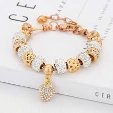 diy gold bracelet images Poshfeel 2017 fashion women gold bracelet crystal heart charm jpg