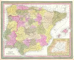 Map Of Spain by File 1850 Mitchell Map Of Spain And Portugal Geographicus