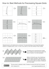 how to pre creasing u2013 origami tessellations