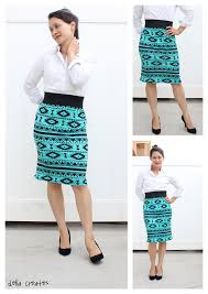 knit pencil skirt tutorial for charlee u2013 two versions