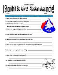 i shouldn u0027t be alive alaskan avalanche video worksheet tpt