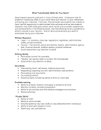 People Skills Resume Best Photos Of Cover Letter For Transferable Skills Transferable