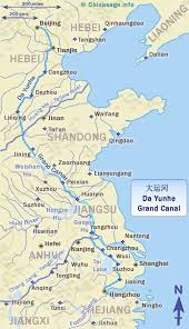 grand map china s grand canal the in the world