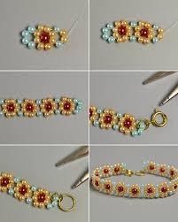 make bead flower bracelet images Making fresh colored pearl beaded flower bracelets carol 39 s jpg