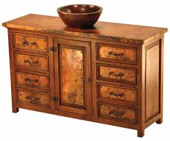 Reclaimed Wood File Cabinet Tuscan Style Vanity Rustic Copper Custom Sizes U0026 Layouts