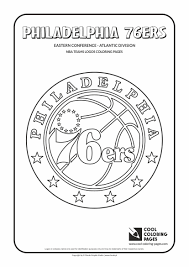 cool coloring pages nba teams logos philadelphia 76ers logo