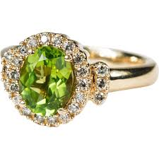 peridot engagement ring 2 72ctw genuine peridot ring 14k gold effy designer ring