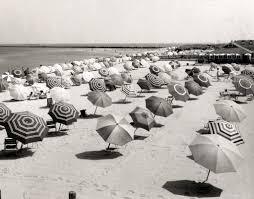 cliffside beach umbrellas 1950s view of cliffside beach u2026 flickr