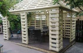 Pallets Garden Ideas Pavilion Made From Recycled Pallets Garden Pallet Pallets And