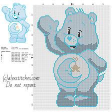 bedtime bear original care bears free cross stitch