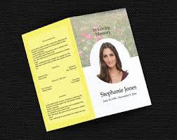memorial service program memorial program template funeral