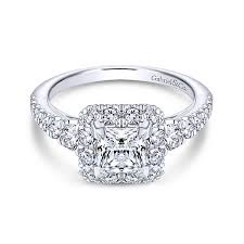 princess cut halo engagement ring rosalinda 14k white gold princess cut halo engagement ring