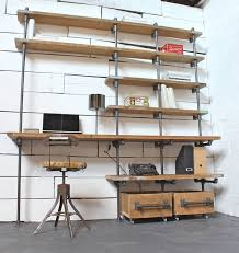 Steel Pipe Desk by Best 25 Scaffold Shelving Ideas On Pinterest Iron Pipe Shelves