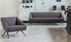 ensemble canapé canapé fauteuil d accueil en tissu design amarcord luxy