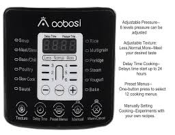 amazon com upgraded aobosi electric pressure cookers digital 18
