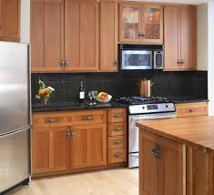 modern home interior design cherry color kitchen cabinets