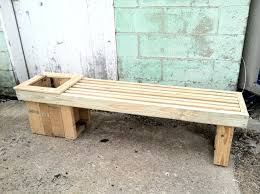 Planter Bench Seat Garden Bench With Planters Outdoor Bench With Planters At Each End