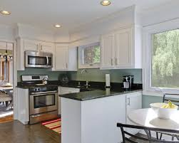 stylish kitchen with painted cabinets