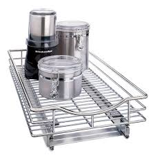 kitchen cabinet storage target lynk professional slide out cabinet organizer pull out cabinet sliding shelf 11 wide x 18 chrome