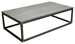 Weathered Wood Coffee Table Modern Rustic Weathered Gray Wood Iron Coffee Table Industrial