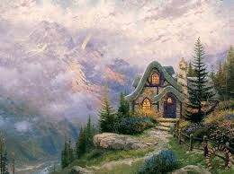 kinkade sweetheart cottage iii painting sweetheart
