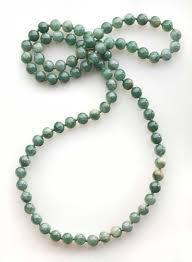 jade beads necklace images A mottled pale green jade bead long necklace christie 39 s a mottled jpg
