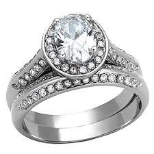 wedding rings bridal set jewellery princess cut engagement rings
