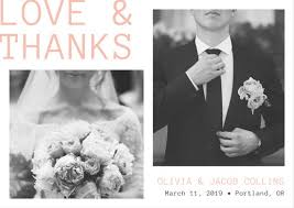 white and and groom thank you wedding card templates