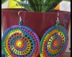 Knitted Chandelier Earrings Pattern Crochet Earrings Etsy
