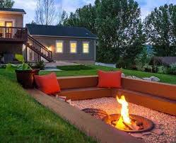 Firepit Area 22 Backyard Pit Ideas With Cozy Seating Area Regard To Design