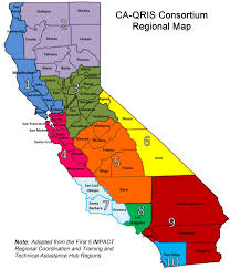 map of california counties ca qris regional representatives quality rating and improvement