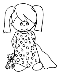 simple coloring pages for girls u2013 art valla