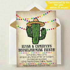 fiesta housewarming invitation housewarming party invite