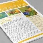 free indesign template of the month newsletter layout premium