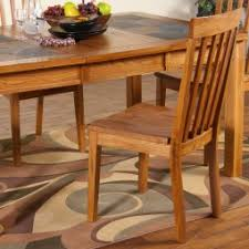 slate dining table set sedona slate top dining table chairs in rustic oak humble abode