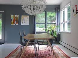contemporary dining room with hardwood floors u0026 chandelier in