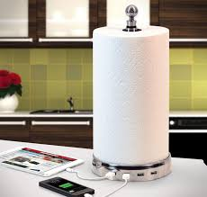 towlhub paper towel usb charger hub