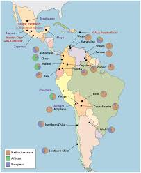 Map Of Mexico And South America by Development Of A Panel Of Genome Wide Ancestry Informative Markers
