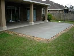 Backyard Concrete Patio Designs Fascinating Backyard Patio Ideas Concrete Beautiful Simple