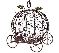 pumpkin carriage plow hearth indoor outdoor pumpkin carriage with led lights