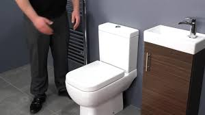 Bathroom Vanity Unit With Basin And Toilet Walnut Vanity Unit Space Saving Toilet For Small Bathrooms