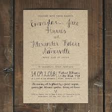 calligraphy for wedding invitations calligraphy kraft wedding invitation feel wedding invitations