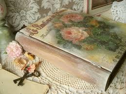 eco friendly home decor wooden box vintage book decoupage eco friendly artisan home decor