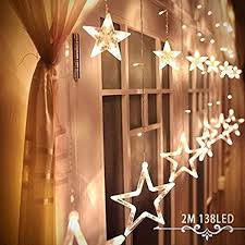 Amazon Christmas Lights Alanda Star Curtain Lights 12 Stars 138 Leds Curtain String Lights