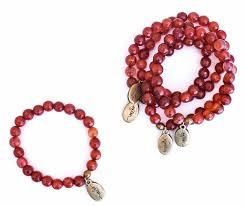 blood bracelet images Beaded bracelet blood orange agate often wander jpg