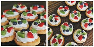 carolina charm mini fruit pizzas
