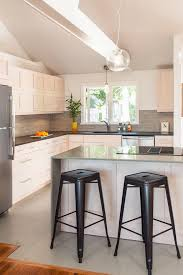 Cork Flooring In Kitchen by White Cork Flooring Kitchen Transitional With Backless Bar Stools